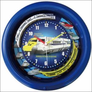 新幹線クロック クロック SR-WC16001BL 壁掛け時計 ダブルトレイン ブルー