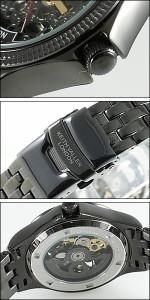 KEITH VALLER 腕時計 キースバリー 時計 BS011-BBK メンズ 限定モデル 日本未発売 スケルトン