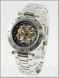 KEITH VALLER 腕時計 キースバリー 時計 KFS-BK メンズ 自動巻き 手巻き