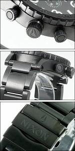 NIXON 腕時計 ニクソン 時計 A083-001 メンズ 51-30 フィフティーワンサーティー クロノグラフ ダイバーズウォッチ