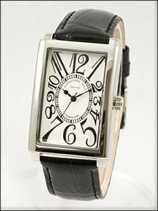 Alessandra Olla 腕時計 アレッサンドラオーラ 時計 AO-4500BK メンズ モデル スクエアフェイス
