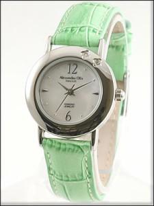 Alessandra Olla 腕時計 アレッサンドラオーラ 時計 AO-6900-GRLadys レディース 天然ダイヤモンド