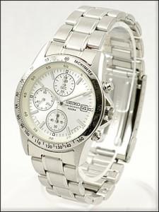 正規品 海外SEIKO 海外セイコー 腕時計 SND363P1 メンズ クロノグラフ シルバー/ホワイト SND363PC