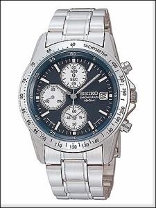 正規品 海外SEIKO 海外セイコー 腕時計 SND365P1 メンズ クロノグラフ シルバー/ブラック SND365PC