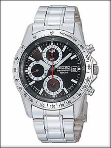 正規品 海外SEIKO 海外セイコー 腕時計 SND371P1 メンズ クロノグラフ シルバー/ブラック SND371P