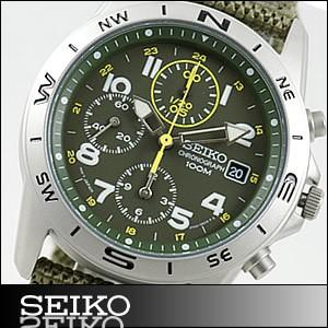 正規品 海外SEIKO 海外セイコー 腕時計 SND377P2 メンズ クロノグラフ グリーン SND377R