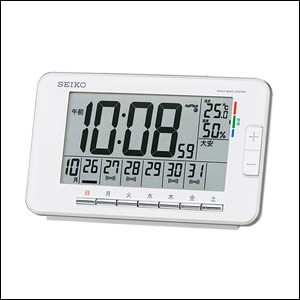 SEIKO セイコー クロック SQ774W 目覚まし時計 ウィークリーアラーム 電波時計