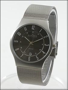 SKAGEN 腕時計 スカーゲン 時計 233XLTTM メンズ チタニウム /シルバー 人気