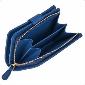 PRADA プラダ PR-1ML225S_ME-AZZ レディース 二つ折り財布 ブルー ワンポイント