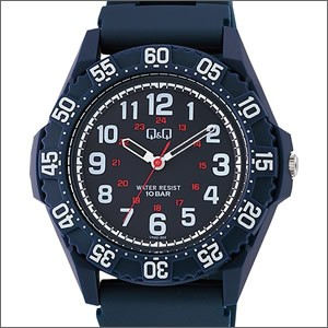 【メール便選択で送料無料/代引不可】キュー&キュー Q&Q 腕時計 正規品 シチズン CITIZEN VR80-002 メンズ スポーツ ダイバー