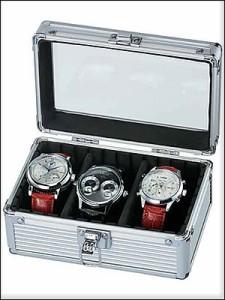 ES PRIMA エスプリマ SE-54013AL 3本時計収納アルミケース