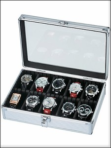 ES PRIMA エスプリマ SE-54020AL 10本時計収納アルミケース