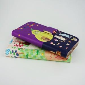 iPhone6専用 手帳型ケース COMO com023-bl 春のパーティ ウサギ クマさん ネコ イヌたち 可愛い イラスト コラージュ デザイン セレクト