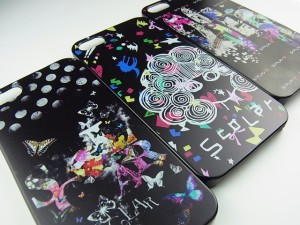 スカラー/50146/スマホケース/スマホカバー/iPhone7/ブラックタイプ/アイフォン/スカラコ グランジ ピンク かわいい ファッションブラン