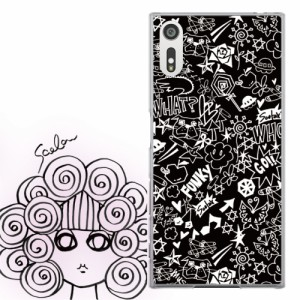 Galaxy S6 SC-05G専用 ケース 50013 ScoLar スカラー ブラック ファンキー ロゴ かわいい ファッションブランド  デザイン スマホカバー