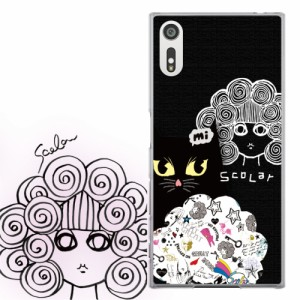 AQUOS PHONE Xx 302SH専用 ケース 50062 ScoLar スカラー 黒猫 スカラコ ブラックカラー かわいい ファッションブランド デザイン スマホ