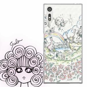 AQUOS PHONE Xx 302SH専用 ケース 50065 ScoLar スカラー メルヘン ウサギとシカとチョウ かわいい ファッションブランド デザイン スマ