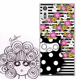 AQUOS PHONE Xx 302SH専用 ケース 50069 ScoLar スカラー フクミン ストライプ お花がいっぱい かわいい ファッションブランド   デザイ