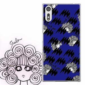 AQUOS PHONE Xx 302SH専用 ケース 50071 ScoLar スカラー スカラー ギザギザ ブルー かわいい ファッションブランド デザイン スマホカ