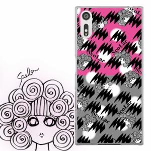 AQUOS PHONE Xx 302SH専用 ケース 50072 ScoLar スカラー スカラー ギザギザ ピンク 水玉 かわいい ファッションブランド デザイン スマ