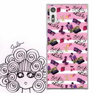 AQUOS PHONE Xx 302SH専用 ケース 50083 ScoLar スカラー ボーダーピンク スカラーナイト かわいい ファッションブランド デザイン スマ