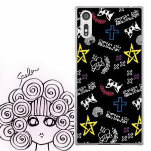 AQUOS PHONE Xx 302SH専用 ケース 50088 ScoLar スカラー ロゴ リボン ハート 十字架 かわいい ファッションブランド デザイン スマホカ