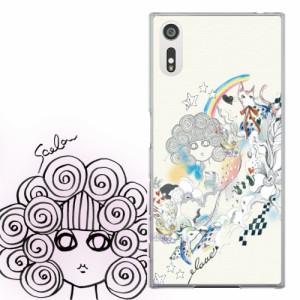 AQUOS PHONE ZETA SH-01F専用 ケース 50104 ScoLar スカラー スカラコ ネコ メルヘン アイボリー かわいい ファッションブランド デザイ