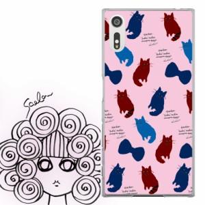 AQUOS PHONE Xx 302SH専用 ケース 50109 ScoLar スカラー あらいぐま リボン柄 ピンク かわいい ファッションブランド デザイン スマホ