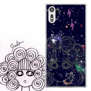 AQUOS PHONE Xx 302SH専用 ケース 50111 ScoLar スカラー 宇宙柄 スカラコ リボン かわいい ファッションブランド デザイン スマホカバー