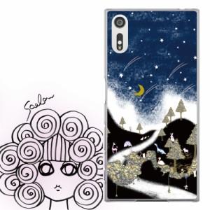 AQUOS PHONE Xx 302SH専用 ケース 50112 ScoLar スカラー 夜空 メルヘン 森の仲間たち かわいい ファッションブランド デザイン スマホ