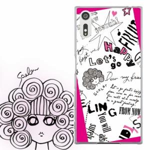 AQUOS PHONE Xx 302SH専用 ケース 50113 ScoLar スカラー ポップ ロゴ ピンク スカラコ かわいい ファッションブランド デザイン スマホ