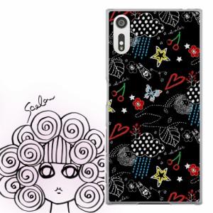AQUOS PHONE Xx 302SH専用 ケース 50125 ScoLar スカラー スカラコ ポップ柄 ブラック かわいい ファッションブランド デザイン スマホカ