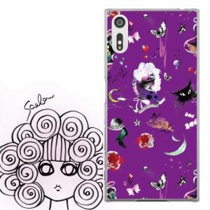 AQUOS PHONE Xx 302SH専用 ケース 50126 ScoLar スカラー 猫 女性 バラ アート かわいい ファッションブランド デザイン スマホカバー ア