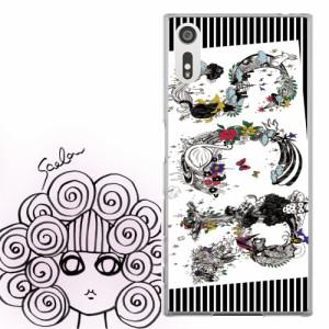 AQUOS PHONE SERIE SHL22専用 ケース 50260 ScoLar スカラー キャラが沢山のロゴ 縦じま かわいいデザイン ファッションブランド デザイ