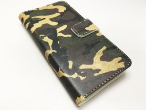 ARC-DESIGN 全機種対応 手帳型 スマホケース 80140-all フリップ ブックレット ダイヤリー ハワイアン ダマスク柄 リーフ ピンク