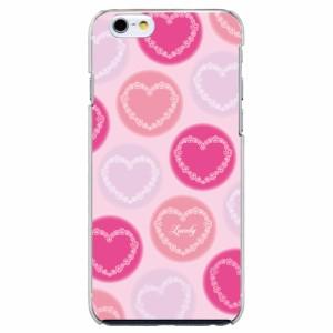AQUOS PHONE SERIE SHL21機種専用 スマホケース ARCデザイン 30069 水玉 ピンク ハート かわいい スマホカバー アンドロイド