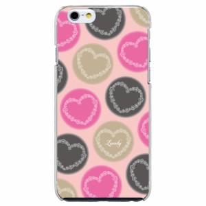 AQUOS PHONE SERIE SHL21機種専用 スマホケース ARCデザイン 30071 水玉 ピンク ハート かわいい スマホカバー アンドロイド