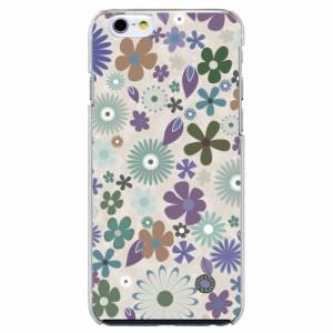 iPhone7機種専用 スマホケース ARCデザイン 30154 花柄 フラワー パープル スマホカバー iPhone iPod