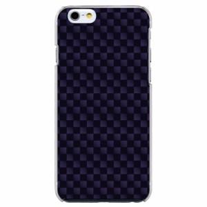 iPhone6 Plus機種専用 スマホケース ARCデザイン 30187 チェッカー パープル かわいい スマホカバー iPhone iPod