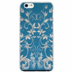 iPhone6 Plus機種専用 スマホケース ARCデザイン 30193 リーフ柄 ブルー かわいい スマホカバー iPhone iPod