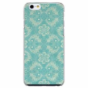 iPhone6 Plus機種専用 スマホケース ARCデザイン 30196 ダマスク柄 グリーン かわいい スマホカバー iPhone iPod