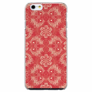 iPhone6 Plus機種専用 スマホケース ARCデザイン 30199 ダマスク柄 レッド かわいい スマホカバー iPhone iPod