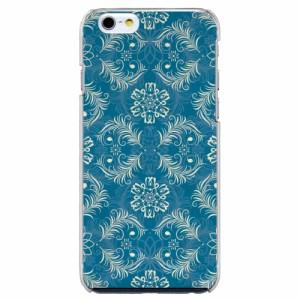 iPhone6 Plus機種専用 スマホケース ARCデザイン 30200 ダマスク柄 ブルー かわいい スマホカバー iPhone iPod