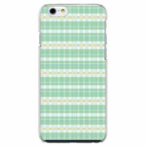 iPhone6 Plus機種専用 スマホケース ARCデザイン 30210 チェック柄 グリーン かわいい スマホカバー iPhone iPod