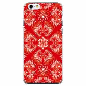 iPhone6 Plus機種専用 スマホケース ARCデザイン 30226 ダマスク柄 レッド かわいい スマホカバー iPhone iPod