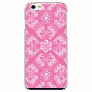 iPhone6 Plus機種専用 スマホケース ARCデザイン 30227 ダマスク柄 ピンク かわいい スマホカバー iPhone iPod