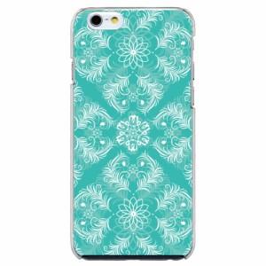 iPhone6 Plus機種専用 スマホケース ARCデザイン 30228 ダマスク柄 グリーン かわいい スマホカバー iPhone iPod