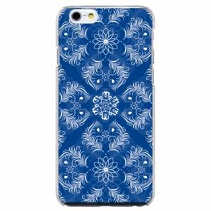 iPhone6 Plus機種専用 スマホケース ARCデザイン 30229 ダマスク柄 ブルー かわいい スマホカバー iPhone iPod