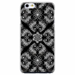 iPhone6 Plus機種専用 スマホケース ARCデザイン 30230 ダマスク柄 ブラック かわいい スマホカバー iPhone iPod