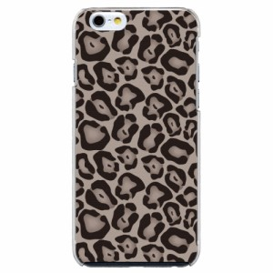 iPhone6 Plus機種専用 スマホケース ARCデザイン 30245 ヒョウ柄 アニマル グレー かわいい スマホカバー iPhone iPod
